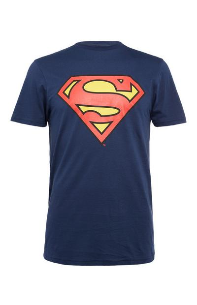 T-shirt Superman bleu marine