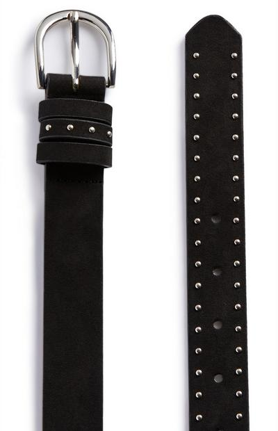 Black Studded Jeans Belt