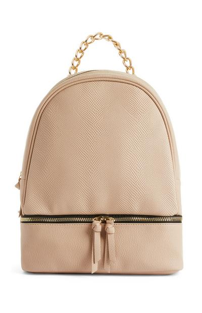 Peach Zip-Base Backpack