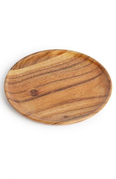 Assiette moyenne en bois