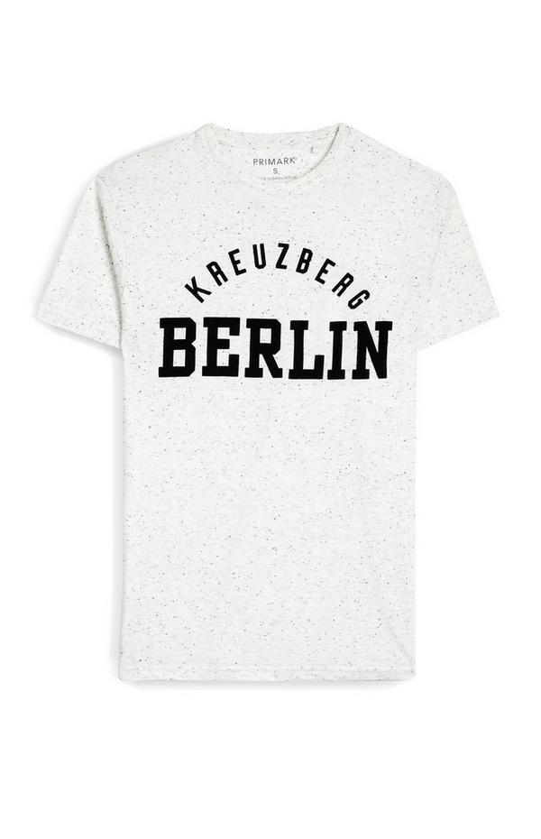 Siva majica s kratkimi rokavi in napisom Berlin