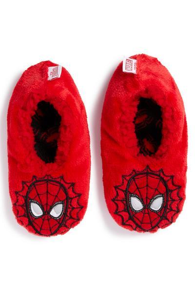 Chaussons rouges Spiderman garçon