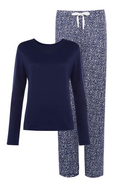 Navy and Blue Pyjama Set
