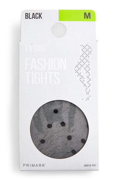 Black Diagonal Spot Fashion Tights