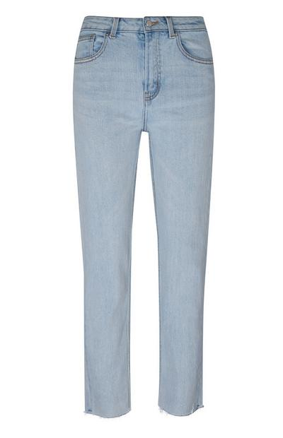 Jeans blu chiaro a gamba dritta