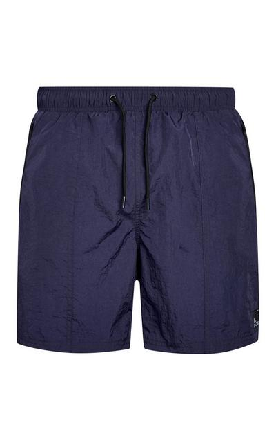 Navy Nylon Swim Shorts