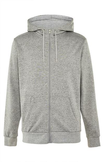 Grey Textured Lounge Hoodie