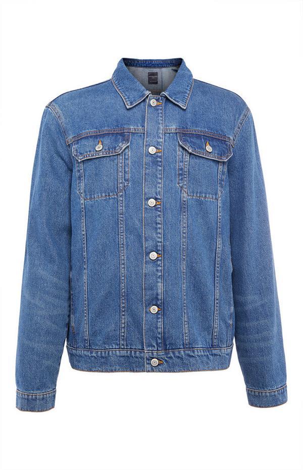 Veste en jean bleue