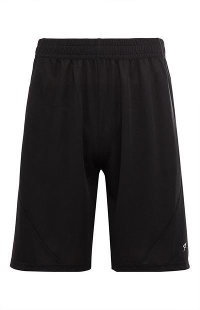 Black Mesh Running Shorts