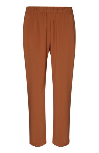 Pantalon de jogging marron en sergé