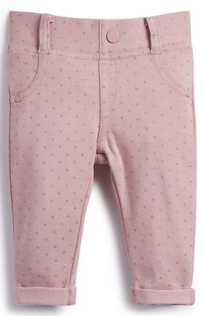 Baby Girl Pink Glitter Treggings