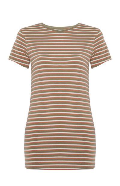 T-shirt elasticizzata a righe