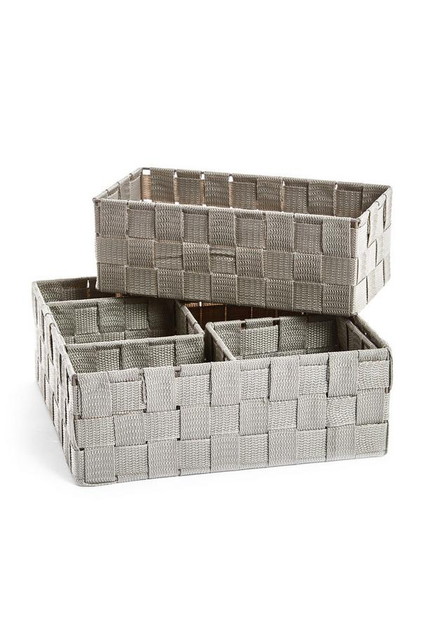 4-Pack Woven Baskets