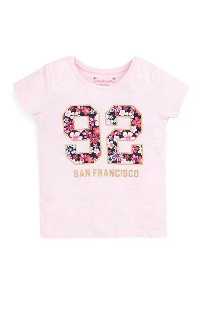 Rožnata majica San Francisco za mlajša dekleta