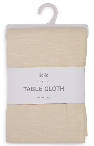 Cream Solid Table Cloth