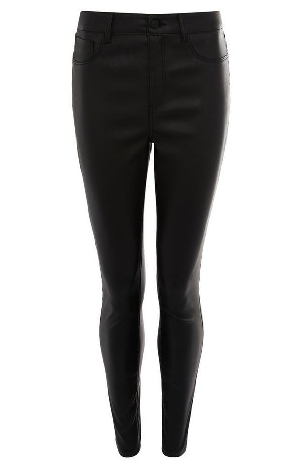 Jean skinny noir enduit