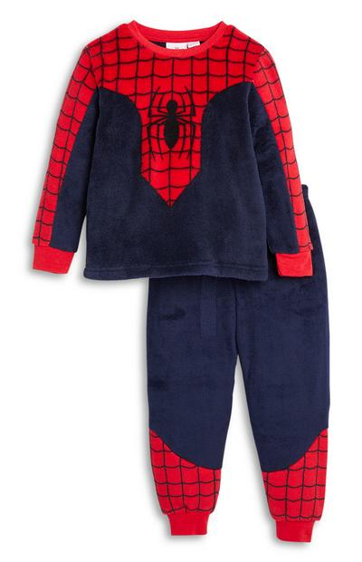 Younger Boy Spiderman Sherpa Pyjamas