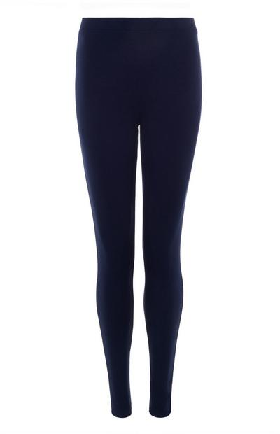Marineblaue, bequeme Leggings