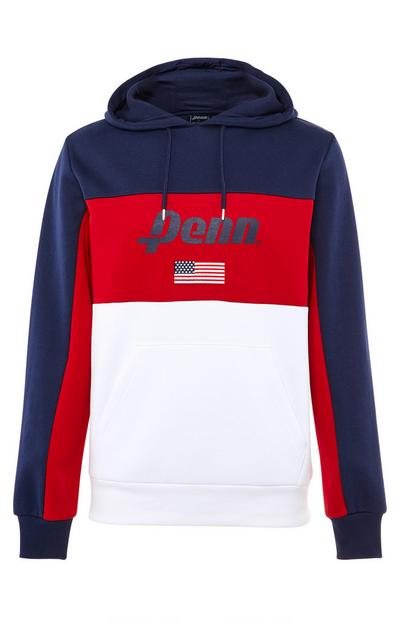 Penn Navy, Red and White Sports Hoodie