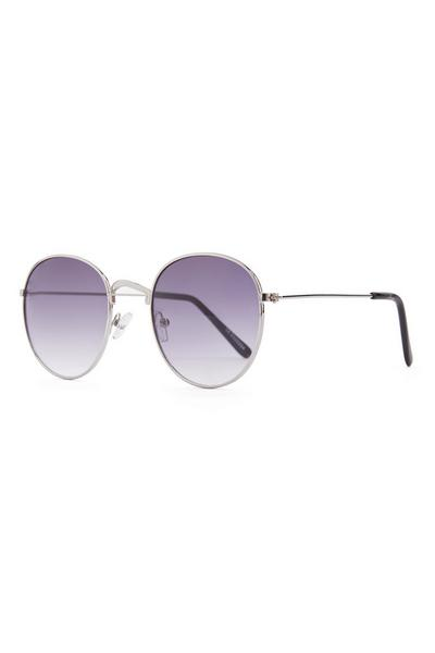 Purple Tone Round Frame Sunglasses