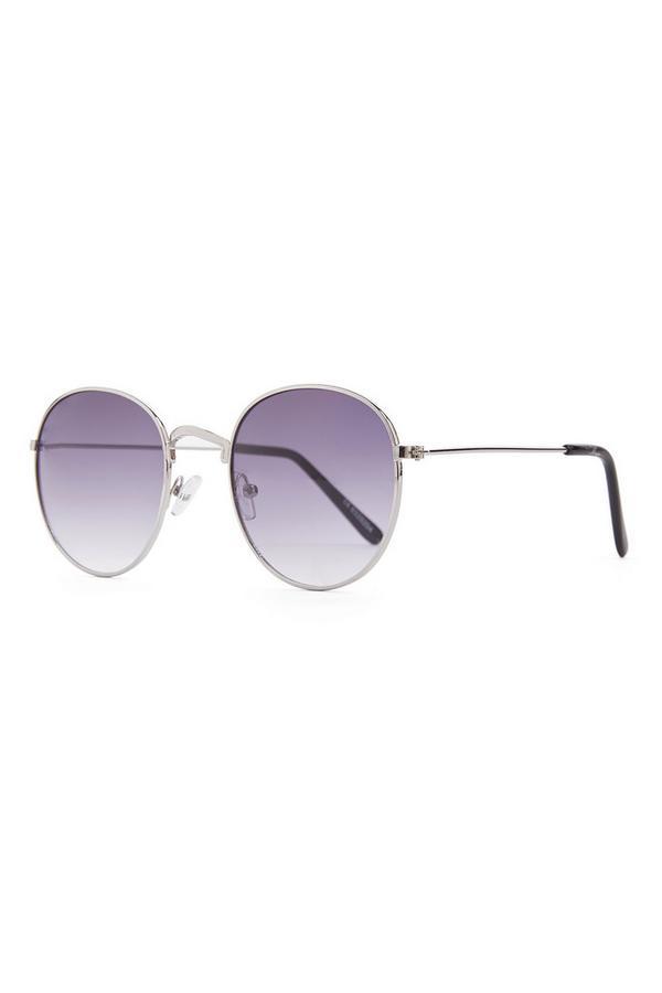 Ronde zonnebril met paars getinte glazen
