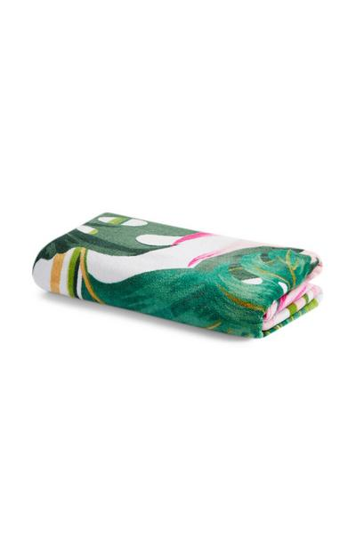 Green Patterned Beach Towel