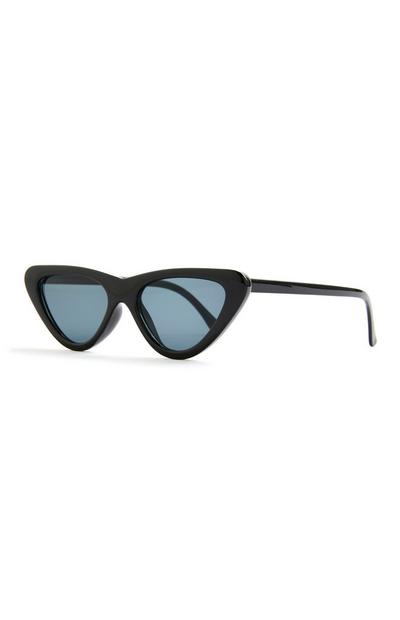 Black Slim Cateye Sunglasses