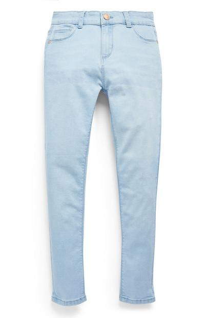 Older Girls Light Blue Stretch Skinny Jeans