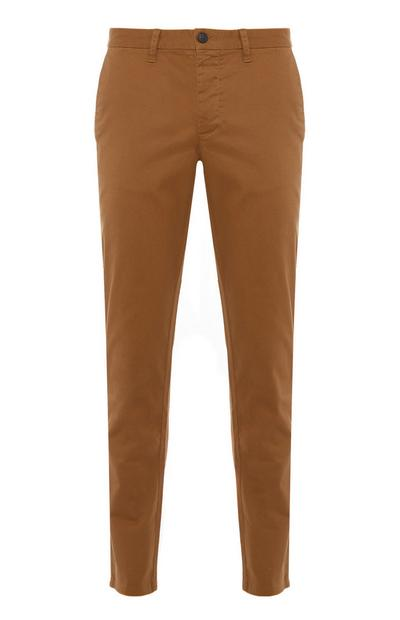 Beige Slim Stretch Chinos