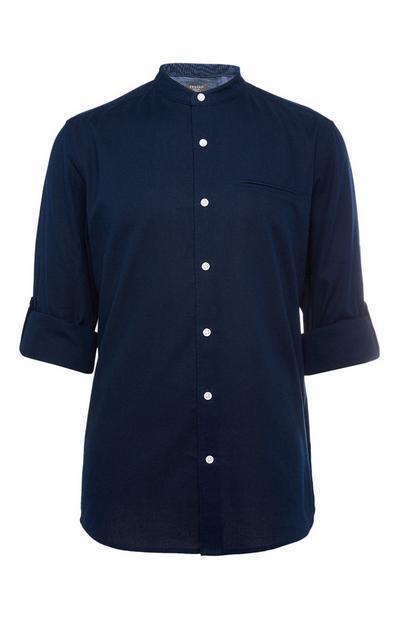 Chemise bleu marine à manches longues