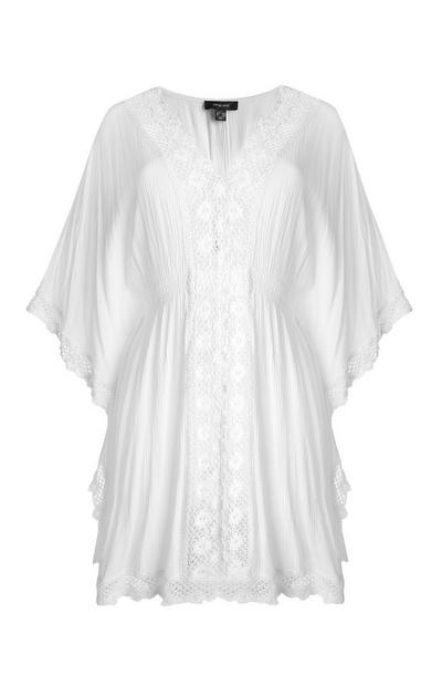 White Viscose Kaftan