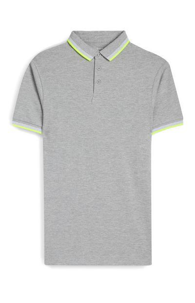 Gray Tipped Polo