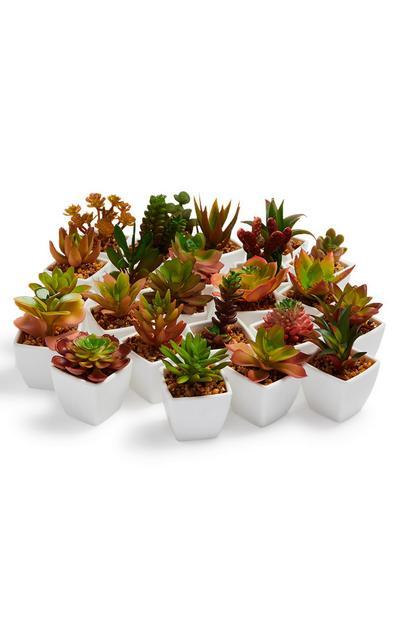 Mini-Kunstpflanze mit Blumentopf