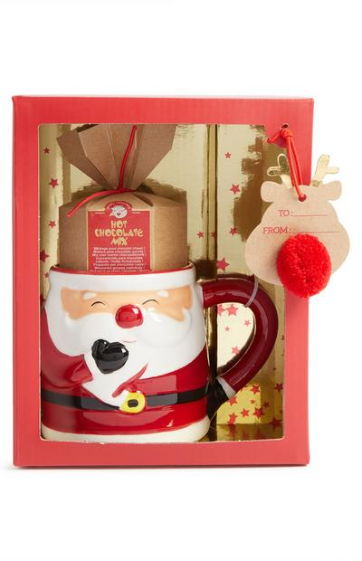 Santa Hot Chocolate Mug Set