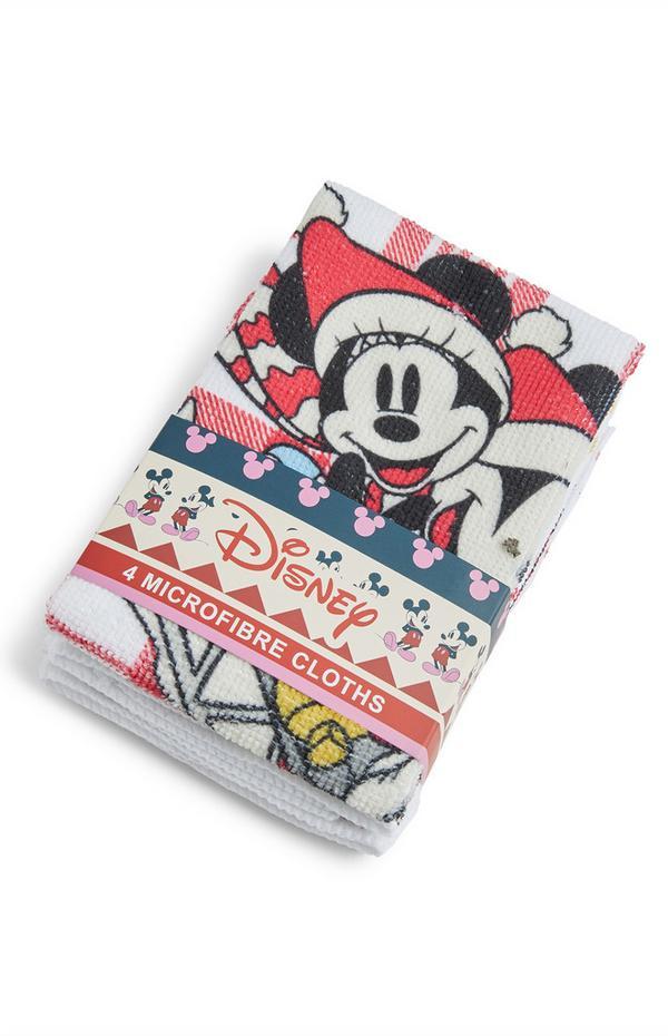 Pack de 4 paños de microfibra de Mickey y Minnie