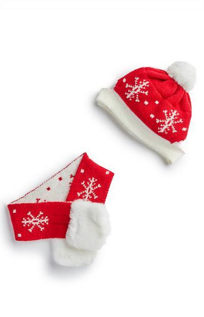 Kerstmuts en -sjaal voor huisdier