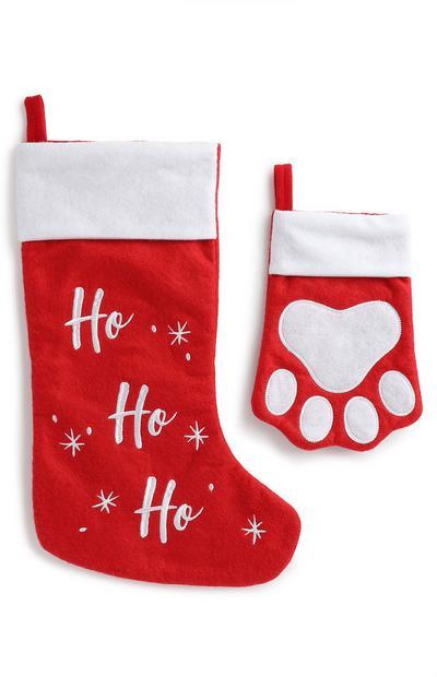 Juego de calcetines navideños para mascotas y dueños