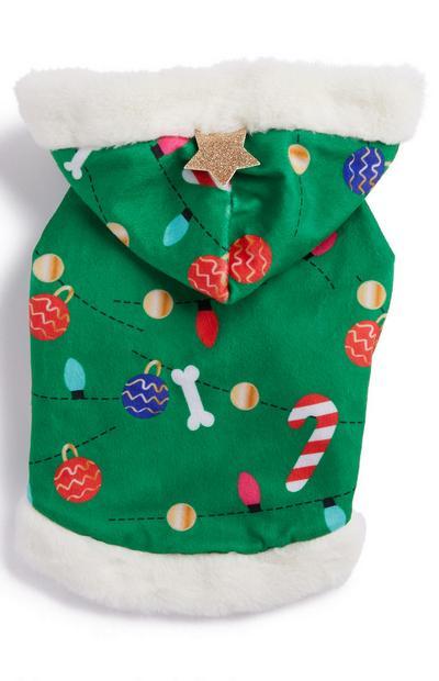 Green Xmas Tree Pet Outfit