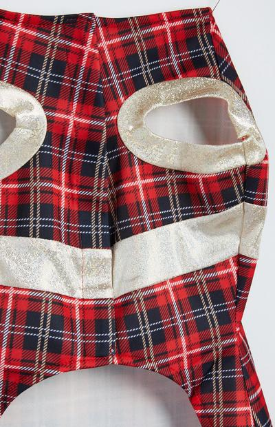 Pet Tartan Xmas Dress