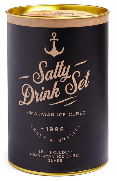 Himalyan Salt Ice Cubes And Whiskey Glass