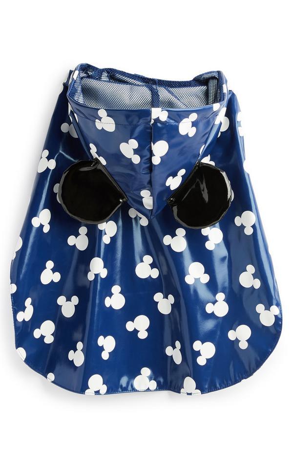 Navy Pet Mickey Mouse Rain Jacket