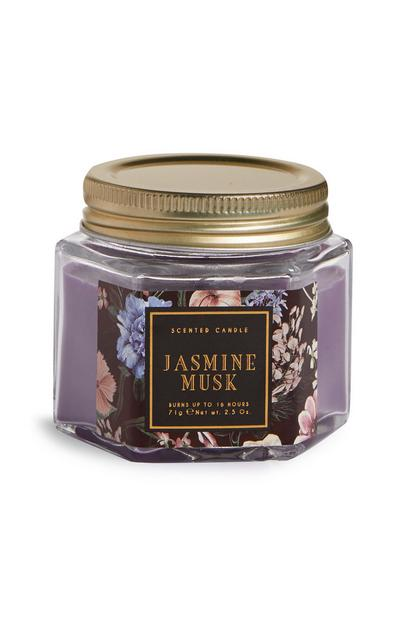 Mini bougie hexagonale en pot Jasmine Musk