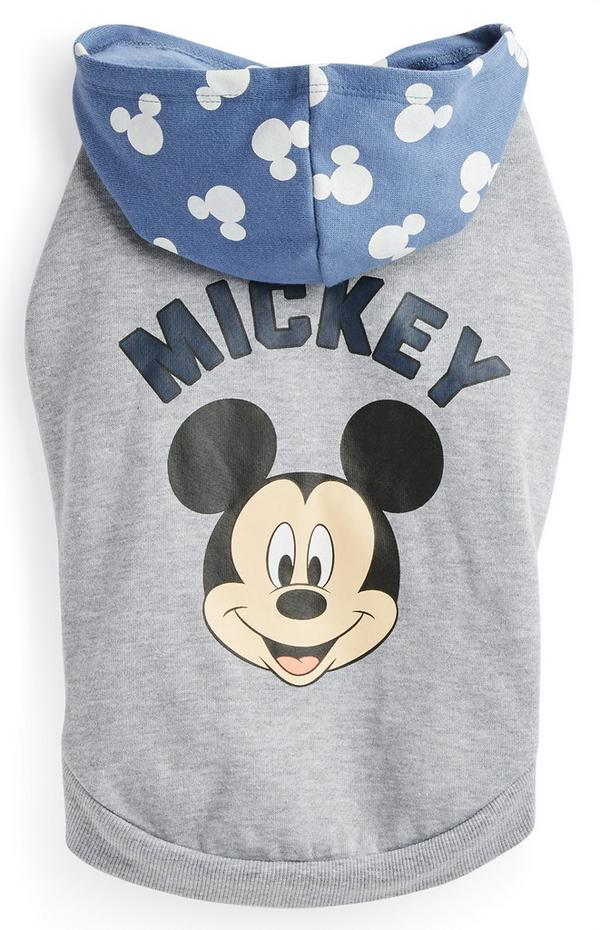 Gray Pet Mickey Mouse Hoodie