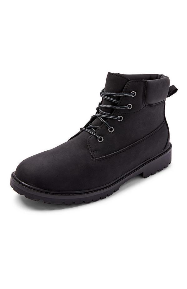 Schwarze Worker Boots