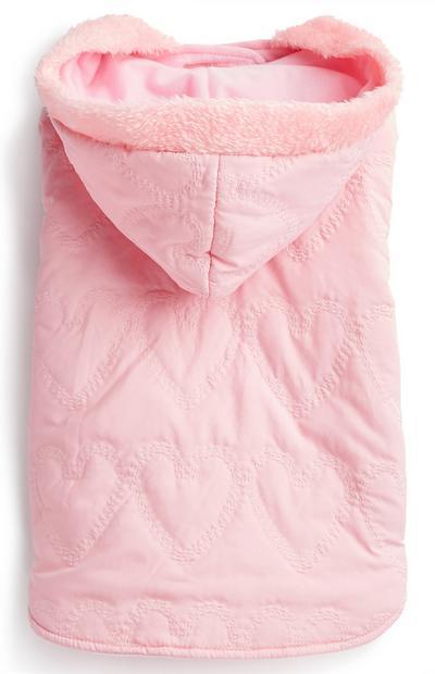 Pink Pet Furry Hood Jacket