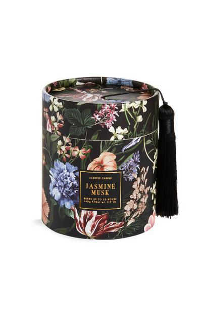 Dark Floral Jasmine Musk Box Candle
