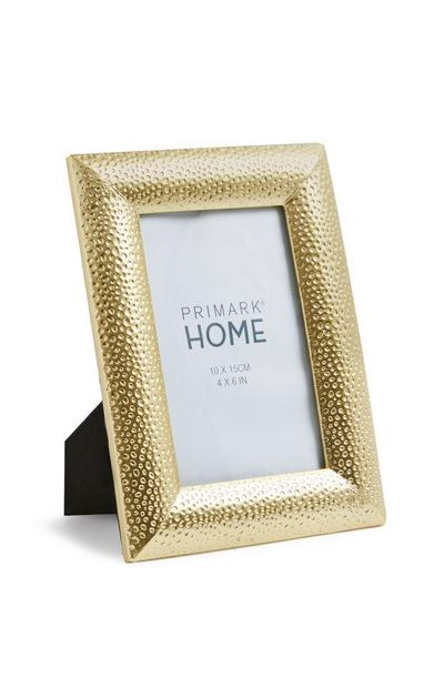 Gold Dimpled Frame 4x5 Inches