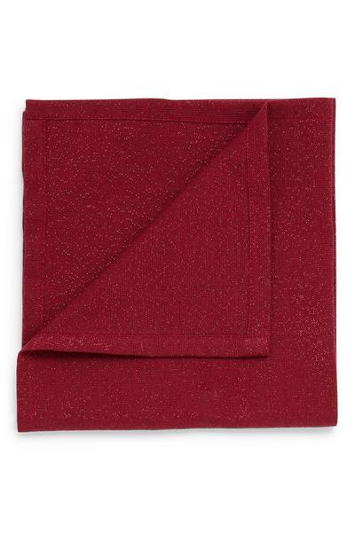 Lot de 2 serviettes de table bordeaux