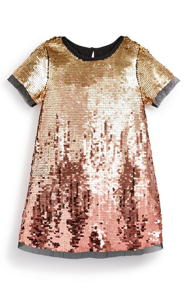 Younger Girl Party Ombre Dress