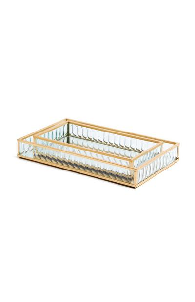 Fluted Glass Tray Set 2 Pack